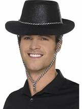 Cowboy Brillantini Cappello, Storico Costume, Nero - £2.39 GBP
