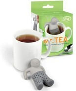Mr. Tea Infuser Loose Leaf Leaves Steeper Silicone Strainer Mister Guy Fred - $8.59