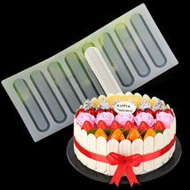 8Hole Chocolate Plug-in Silicone Mold Cake Side Insert Chip Card Decorat... - ₨504.16 INR