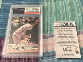 1999 Fleer Ultra A.S. Game #2 Carl Yastrzemski Autographed Baseball Card... - $99.99