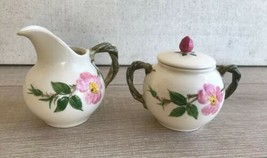 Vintage Franciscan Desert Rose China Sugar Bowl & Creamer Set California... - $20.78