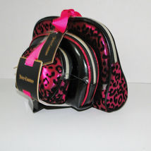 Juicy Couture Leopard Pink & Black Cosmetic Travel Case Set image 7