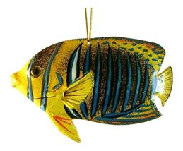 Tropical Fish Ocean Life Christmas Ornament 6 Inches Blue Stripe 6ORN40 ... - $19.96