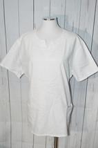Cherokee Women's White Short Sleeve Flower Scrub Top - $19.79