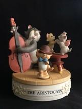 Disney Musical Memories Aristocats Bisque Porcelain Motion Music Box Ltd Ed - $49.50