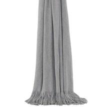 Luxus Designer Gliitter Sehr Weich Mit Quasten Überwurf Decke Silbergrau 130X180 - $56.05