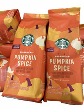 8 Starbucks Pumpkin Spice Flavor Ground Coffee Limited Edition Exp 2022 17 oz - $165.00
