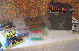 1967 Lite Brite Light Toy With Refills Shapes And Forms RARE Hasbro All ... - $98.99