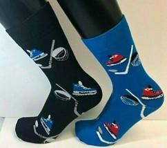 2 PAIRS Foozys Men's Socks HOCKEY, Blue, Black, NEW Free Shipping - $8.99