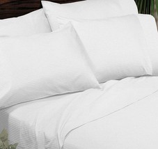 Sferra ELYSE Stripe White King Pillowcases 300 TC Egyptian Cotton Sateen... - $68.90
