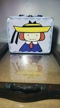 Vintage Madeline Cartoon TV Show Metal Tin Lunch Box Storage Case 2002 P... - $8.71