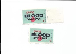 U.S. STAMP unused Single GIVING BLOOD SAVES LIVES 1971 Scott #1425 - $1.00