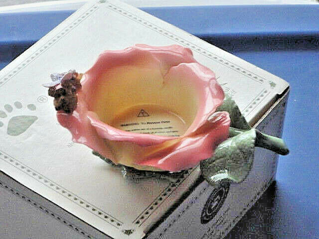Boyds Bears Porcelain Rosie Flutterby Butterfly Bear Candle Holder 1E  27762