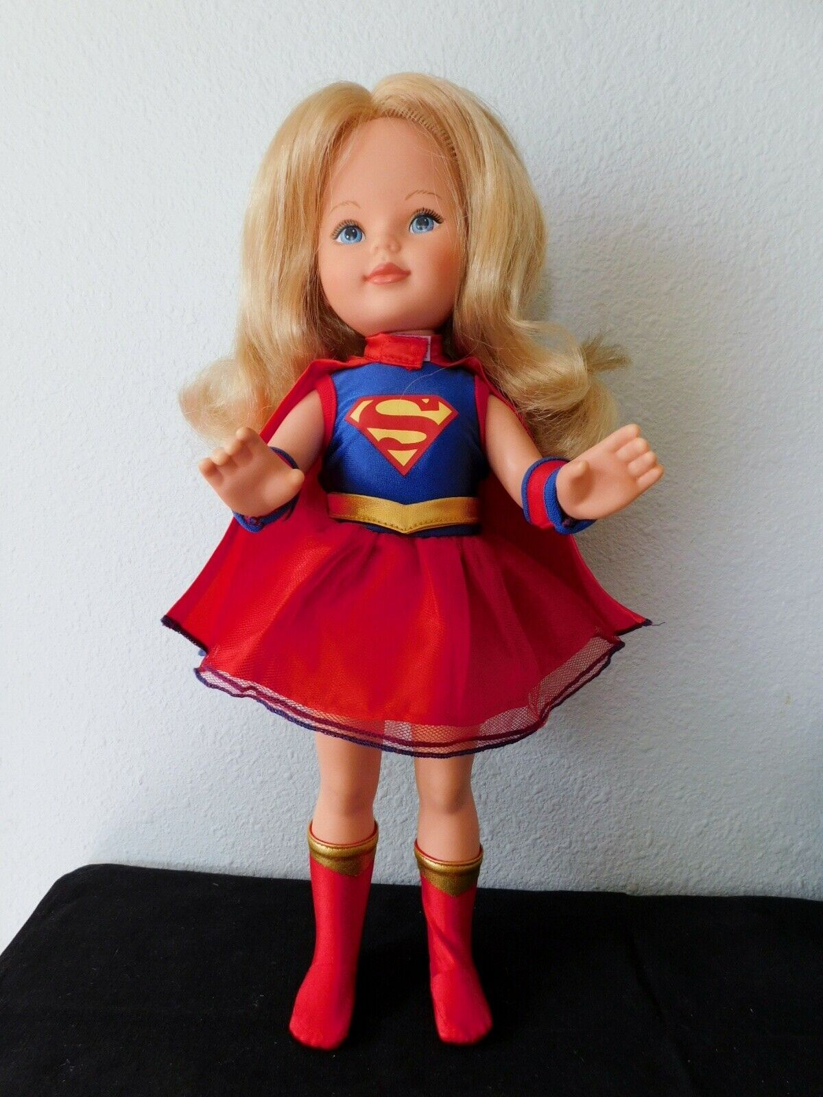 "Primary image for  1984 KIMBERLY DOLL 17"" dressed as Superman...a really unique outift VGC"