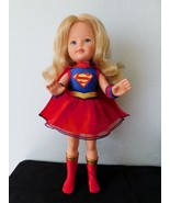 """1984 KIMBERLY DOLL 17"""" dressed as Superman...a really unique outift VGC  - £39.96 GBP"""