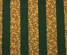 CONCORD FABRICS KAUAI JUNGLE GREEN LEOPARD CHEETAH CORAL STRIPE BY THE Y... - $8.79