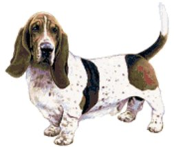 Basset Hound Dog Counted Cross Stitch Pattern - $14.99