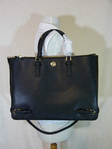 NWT Tory Burch Black Saffiano Leather Large Robinson Multi Tote - $595 - $512.82