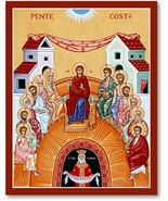 "Pentecost Icon 4.5"" x 6"" Print With Lumina Gold - $21.95"