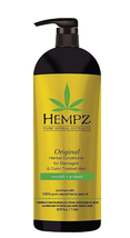 Hempz Original Conditioner For Damaged or Color Treated Hair, 33.8oz