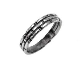 Wedding Ring Weaved bricks sterling silver 925 size 6-14 --- All sizes! - $14.00