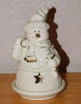 International Bazaar Porcelain Snowman Decorative Votive Candle Holder