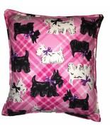 Scottie Dog Pillow Handmade In USA Pink Plaid Scottie Dogs Cute Soft Pillow - $9.99