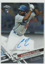 2017 topps chrome Andrew Toles RA-AT Dodgers RC Auto - $6.50