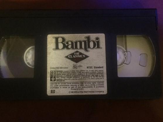 Bambi VHS  Black Diamond Edition