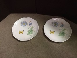 """Set of 2 Lenox Butterfly Meadow Monarch 9 1/4"""" Luncheon Plates image 1"""