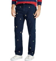Polo Ralph Lauren 34X32 NWT Navy Classic Varsity Embroidery Bedford Chin... - $94.99