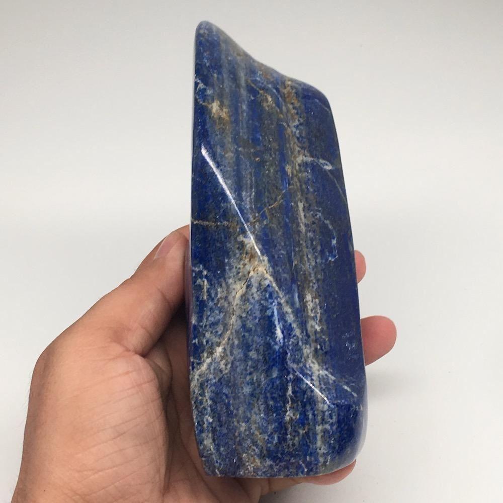 "5.6""x3""x2.1"", 1078g,Natural Polished Freeform Lapis Lazuli @Afghanistan,PL87"
