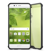 For Huawei P10 Plus Acrylic + TPU Transparent Armor Protective Case (Black) - $4.86