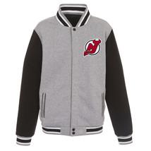 NHL New Jersey Devils Reversible Full Snap Fleece Jacket JH Design 2 Fro... - $99.99
