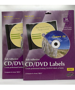 2 Printer Creations CD/DVD Labels for Inkjet compare to Avery 8931 NOS F... - $13.86