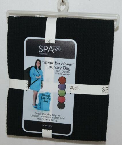 SPAcific Essentials 5775 Color Black Waffle Weave 60 Percent Cotton 40 Percent P