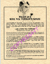 Rules In A Wire Fox Terrier's House - $20.70