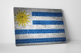 "Vintage Flag of Uruguay Gallery Wrapped Canvas 20""x30"" - $53.41"