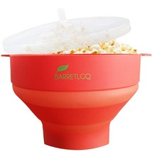 Microwave Silicone Popcorn Popper Maker Collapsible Bowl For Kitchen DIY... - $13.17