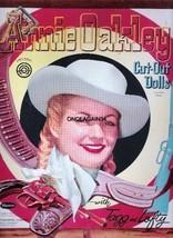 VINTAGE UNCUT 1956 ANNIE OAKLEY PAPER DOLLS~#1 REPRODUCTION~FABULOUS/NOS... - $18.99