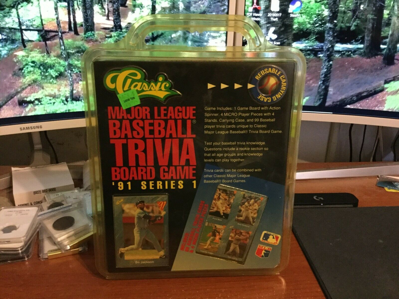 Primary image for Vintage Classic Major League Baseball Sealed Trivia Board Game '91 Series 1 New