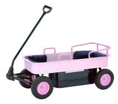 Kids Wagon Pull Along Coach Steel  Pink - $249.99