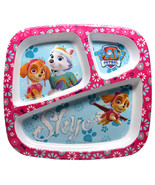 PAW PATROL PLATE (SKYE) 1-divided plate & 1-round plate - $15.95