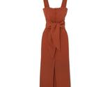 Nanushka riley dress with fringe in brick 1 thumb155 crop