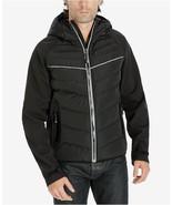 New NWT L Mens Coat Michael Kors Reflective Down Jacket Black Rain Wind ... - $120.00