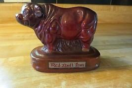 vtg old steer cow bull advertising Red Bull Inn northern Wisconsin bank - $42.75