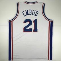 New JOEL EMBIID Philadelphia White Custom Stitched Basketball Jersey Men... - $49.99