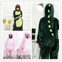 Dinosaur Unisex Adult Pajamas Kigurumi Cosplay Costume Animal Onesie0 Sl... - $6.99