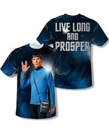 Star Trek Spock Live Long and Prosper Two-Sided Sublimation Print T-Shir... - $26.85