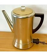 Vintage 1950s West Bend Coffeepot Percolator Gold Flavomatic Bakelite Handle SH - £39.95 GBP